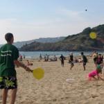 jeu de raquette plage