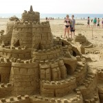 chateau de sable plage